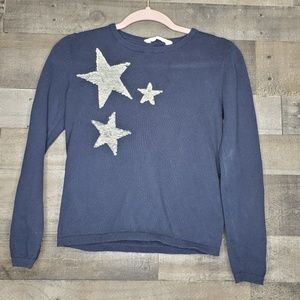 Flip Sequin Sweater Blue with Stars H&M
